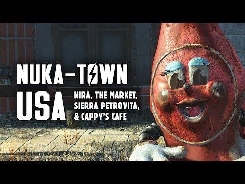 Nuka World Part 2: Nuka-Town USA - NIRA, the Market, Sierra Petrovita, & Cappy's Cafe