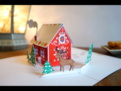 How to make a Pop-Up Card Gingerbread house