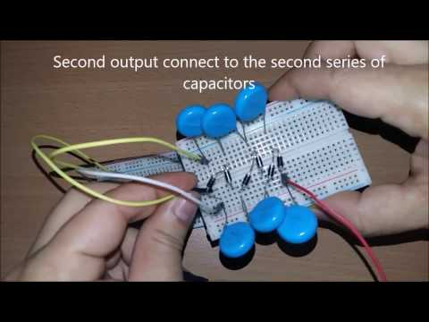 Simple Easy 5 Volt DC to 5000 Volt DC high voltage multiplier