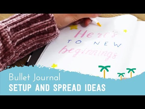 PLAN WITH ME - Bullet Journal Setup Ideas + Monthly Spread | Stationery Island