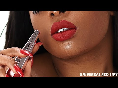 THE PERFECT RED LIP TUTORIAL FOR THE HOLIDAYS ft Fenty Beauty Stunna lip paint in uncensored