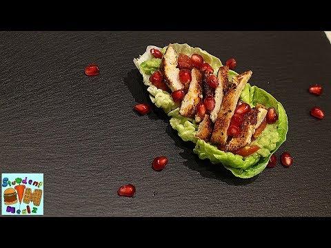 Guacamole Chicken Lettuce Wrap Recipe