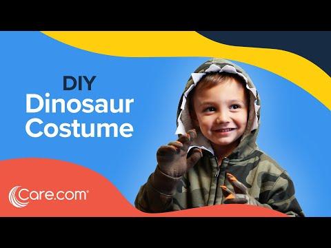 How to Make a Dinosaur Costume - Easy DIY Halloween | Care.com