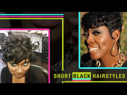Short Black Hairstyles - Short Hair Cuts For Black Women