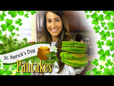St. Patrick's Day Protein Pancakes