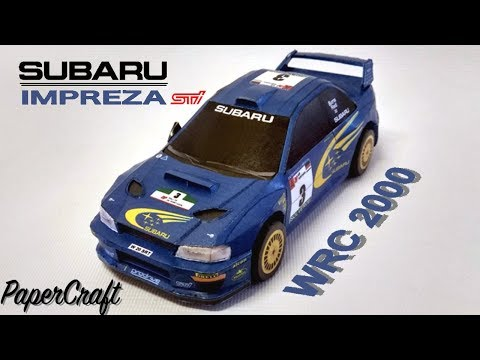 Subaru Impreza WRC2000 PaperCraft - ( Build Video )