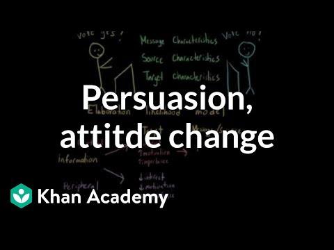 Persuasion, attitude change, and the elaboration likelihood model | MCAT | Khan Academy