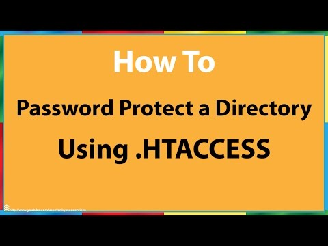 How to Password Protect a Directory With .htaccess