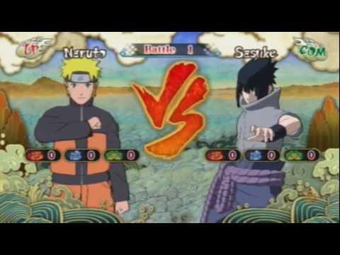 Ultimate Ninja Storm 3: Naruto (Tailed Beast Bomb) vs. Sasuke (Eternal Mangekyou Sharingan)
