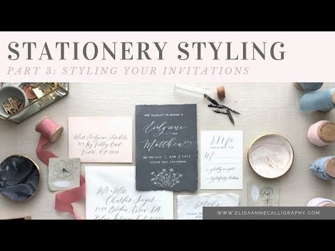 Stationery Styling Series: Part 3 - Styling Wedding Invitations and Paper Goods