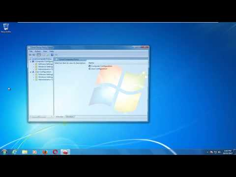 Windows 7 How to Open Local Group Policy Editor