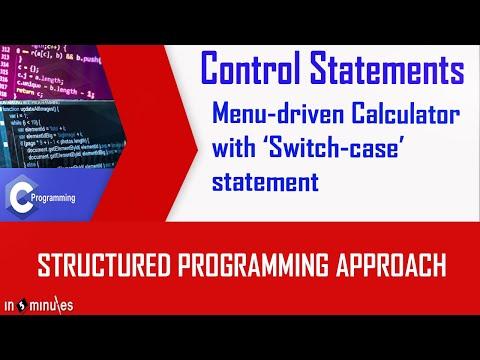 Program of Menu Driven Calcculator with Switch case statement