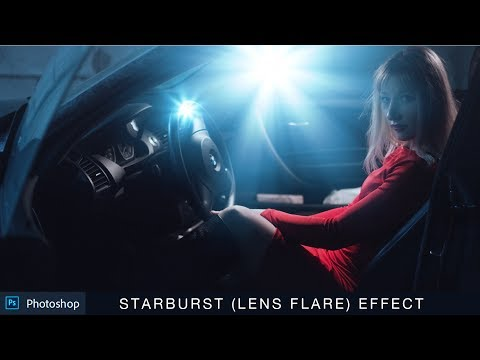 How to Create Starburst Effect in Photoshop - Making Realistic Lens Flare Tutorial