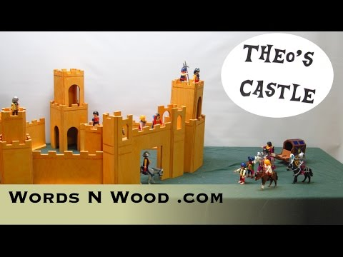 A Modular Wooden Castle  (WnW #24)  Plans available.