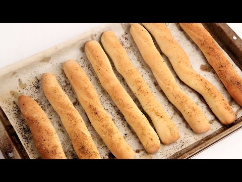 Homemade Breadsticks Recipe - Laura Vitale - Laura in the Kitchen Episode 887