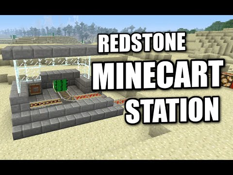 Minecraft PS4 -  REDSTONE MINECART STATION - Tutorial ( PS3 / XBOX / WII / PE )