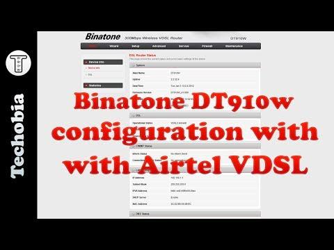Binatone DT910W VDSL Configuration PPoE Airtel VDSL or Fiber | CWMP Disabling