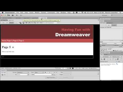 Dreamweaver & HTML 5 for Beginners - Creating a Simple Website