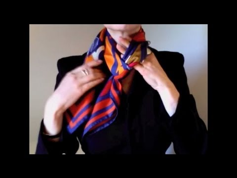 How-to wear scarves - Hermes scarf in a weave knot