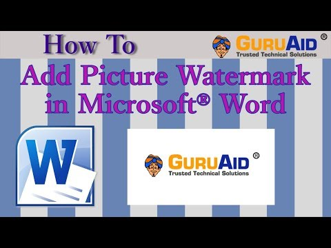 How to Add Picture Watermark in Microsoft® Word - GuruAid