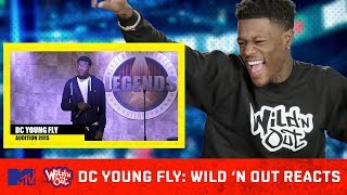 DC Young Fly Reacts To His Wild 'N Out Audition Tape 😂   Wild 'N Out Reacts   MTV
