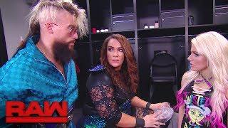 Enzo Amore checks on Nia Jax: Raw, Jan. 15, 2018