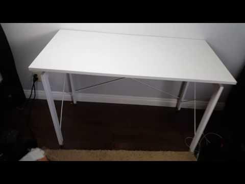 HOMCOM White Modern Computer Desk Review | Nice & Sleek!!!