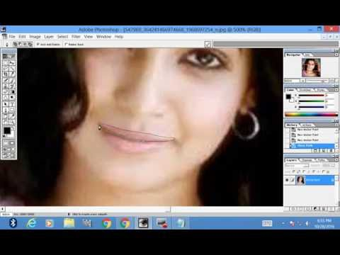 How to change lips colour in adobe photoshop 7