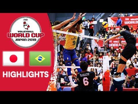 Xxx Mp4 JAPAN Vs BRAZIL Highlights Men 39 S Volleyball World Cup 2019 3gp Sex