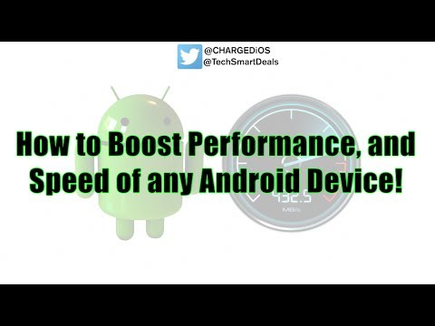 HOW TO BOOST ANDROID SPEED AND PERFORMANCE WITH JUST ONE CLICK!