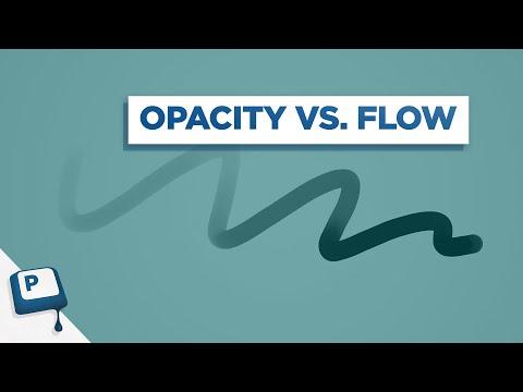 Photoshop Brush Tool: Opacity Vs. Flow