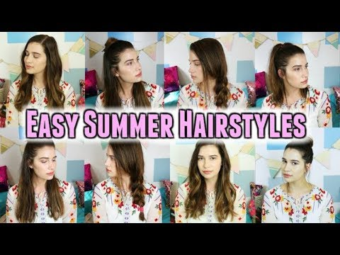 5 Easy Summer Hairstyles | Quick & Pretty!