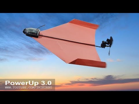 Transforming a Paper Airplane to a Smart Paper Plane with PowerUp 3.0 - First Test Flight