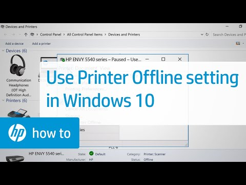 Checking the Use Printer Offline Setting in Windows 10