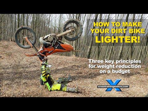 DIRT BIKE WEIGHT REDUCTION: best tips for a lighter enduro bike