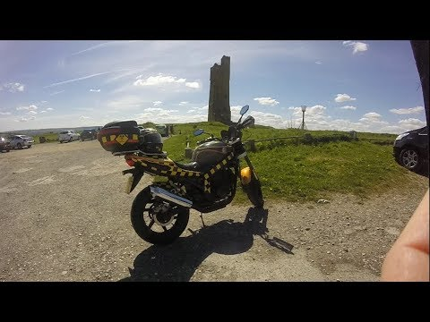 Castle Hill to Huddersfield Real time Ride {On a Hyosung Comet} 2018