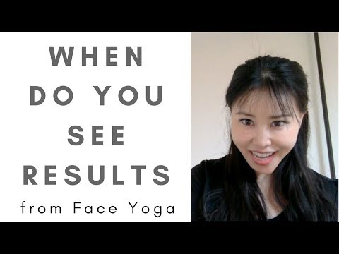 When you will see result from face yoga exercises