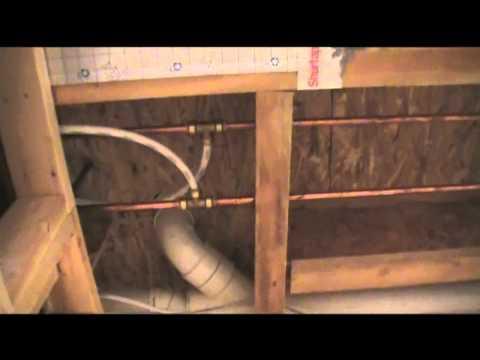 Basement Bathroom Water Line installation overview