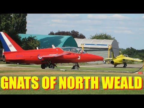 CRHnews - Folland Gnats sunbathe at North Weald Airfield