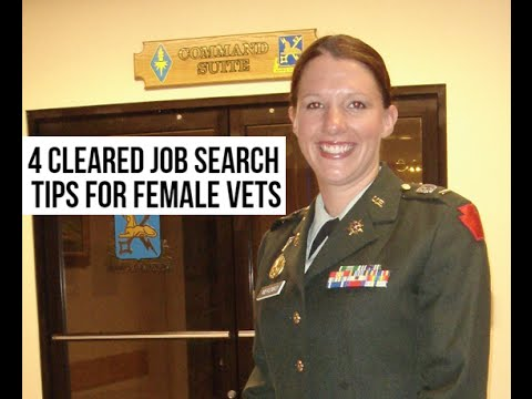 4 Cleared Job Search Tips for Female Veterans