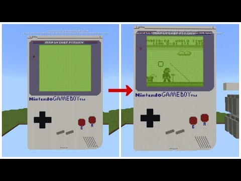 WORKING GAMEBOY IN MINECRAFT PE!!! (Command Block Creations)