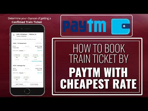 How to book train ticket by paytm with cheapest rate