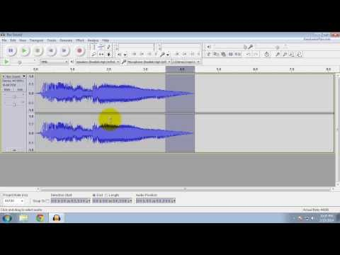 Audacity - How to add Fade In and Fade Out effects