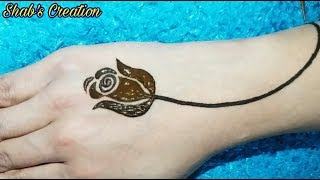 Gulf Rose Design Most Easy To Make Rose With Henna Step By Step