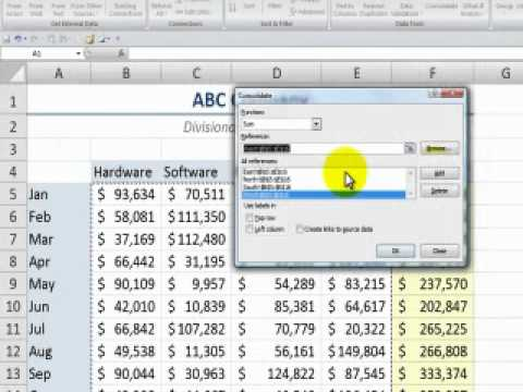 Consolidating Data from Multiple Excel Worksheets By Position