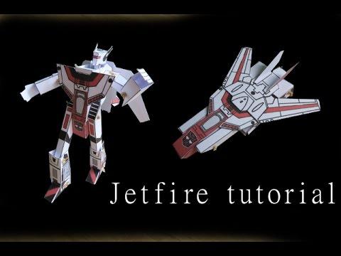 Jetfire - papercraft - moving paper - tutorial - dutchpapergirl