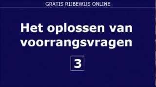 EXAMEN RIJBEWIJS B VRAGEN VOORRANG VOORRANGSREGELS (3)