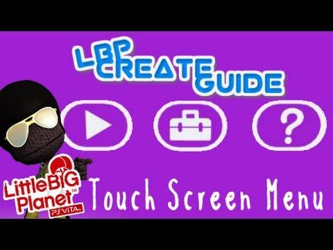 Touch Screen Menu - LittleBigPlanet Vita