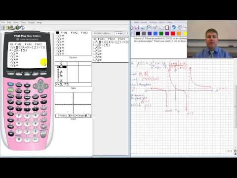 Rational Functions with Graphing Calculator