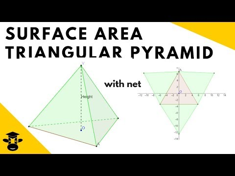 Surface Area Triangular Pyramid- Includes net of the shape